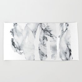 Marble stains Beach Towel