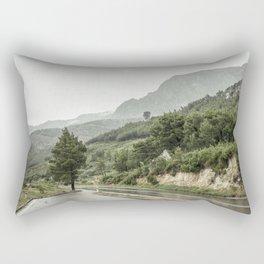 Makarska Riviera in rain Rectangular Pillow