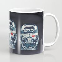 doll Mugs featuring Nesting Doll X-Ray by Ali GULEC