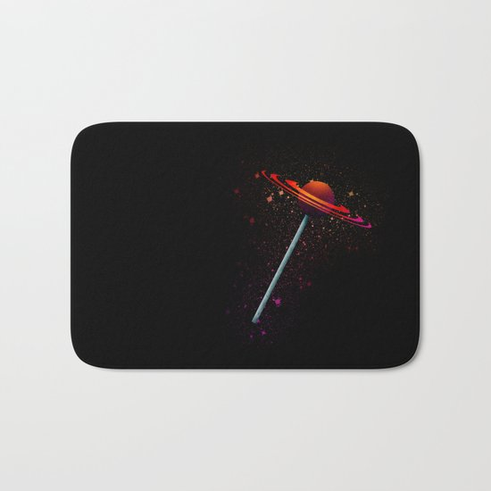 planet lollipop Bath Mat