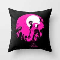 zombies Throw Pillows featuring Zombies! by JoJo Seames