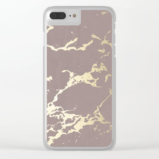 Kintsugi Ceramic Gold on Red Earth Clear iPhone Case