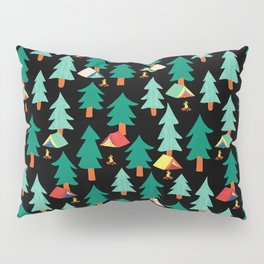 Camping Tents In The Forest Pillow Sham