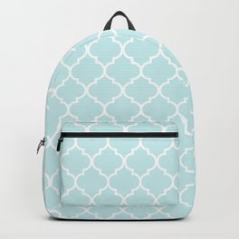 Baby Blue Quatrefoil Backpack