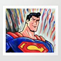man of steel Art Prints featuring Man of Steel by MSG Imaging