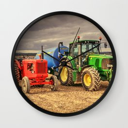 Marshall and the Deere Wall Clock