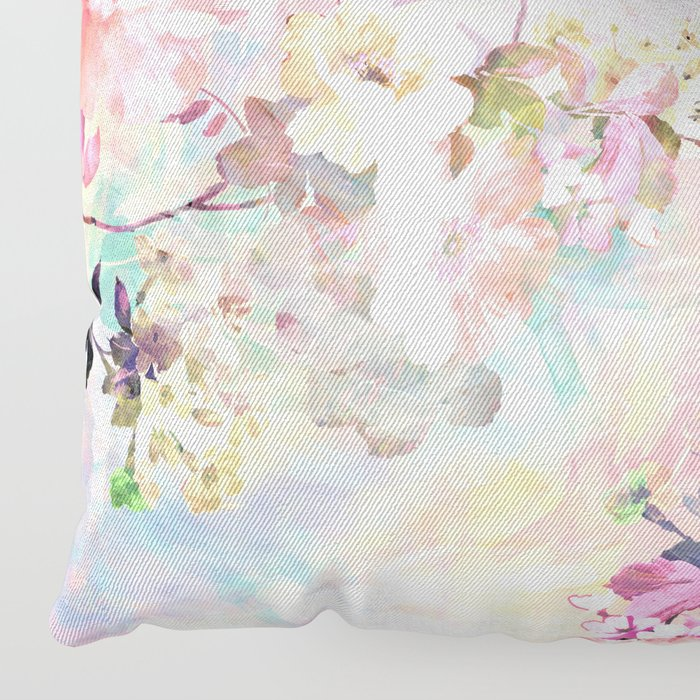 Love of a Flower Floor Pillow by girlytrend | Society6