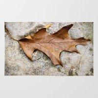 leaf Area & Throw Rugs featuring leaf by Bonnie Jakobsen-Martin