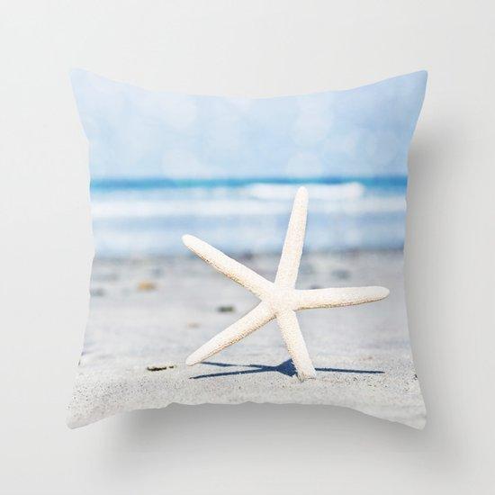 Starfish By The Seashore  Throw Pillow