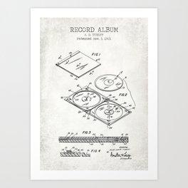 Blueprint art prints society6 record album old canvas art print malvernweather Choice Image