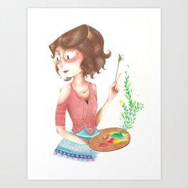 Simone painting Art Print