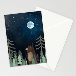 the moon balloon Stationery Cards