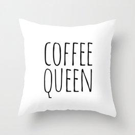 Coffee queen Throw Pillow