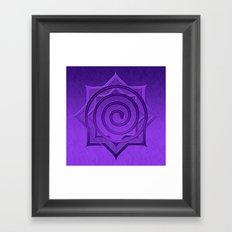 okataar purple mandala Framed Art Print