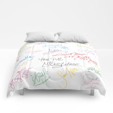 character autographs Comforters