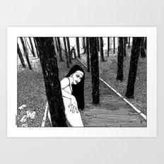 asc 603 - L'histoire sans fin (The Garden of Forking Paths) Art Print