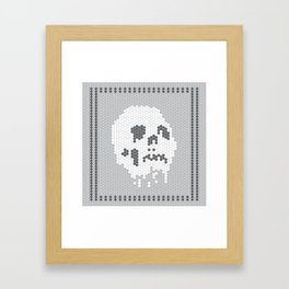 Skull Tile Framed Art Print