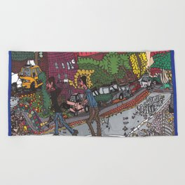 Jills Street - New York Beach Towel