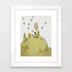 oh my how penguins fly Framed Art Print