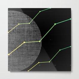 Techno Lines Growing Metal Print