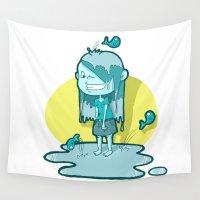 aquarius Wall Tapestries featuring Aquarius by Chiara Zava
