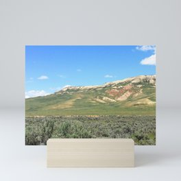 Watercolor Landscape Prairie Buttes 05, Kemmerer, WY Mini Art Print