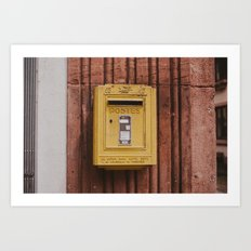 Postes Art Print