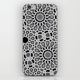 black and white Moroccan tiles iPhone Skin