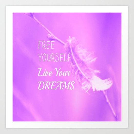 Free - Pink Art Print