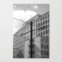 the wire Canvas Prints featuring wire by Mylo Photography