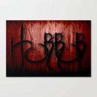 horror Canvas Prints featuring Horror by NicholasB