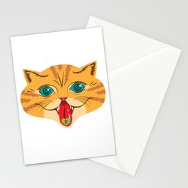 Kiss Me Ginger Cat Stationery Cards