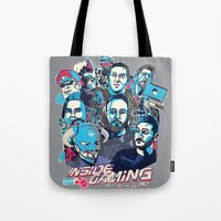 gaming Tote Bags featuring Inside Gaming by MikeRush