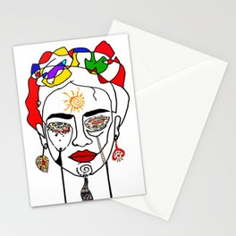 Move like Frida Kahlo Stationery Cards