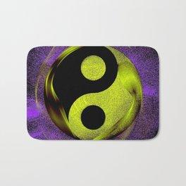 yin yang Ensō zen buddhism purple anise Bath Mat