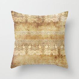 Vintage. The old lace. Vintage fabric . Throw Pillow