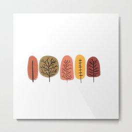 Autumn Trees Pattern Metal Print