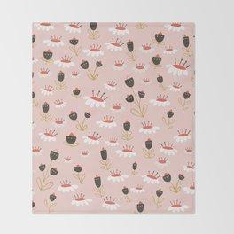 Chocolate flowers Throw Blanket