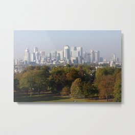 View of the City of London from Greenwich Park Metal Print