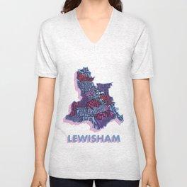 Lewisham - London Borough - Colour Unisex V-Neck