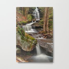 Ricketts Glen Waterfall Layers Metal Print