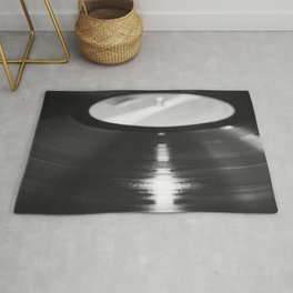 Record (Black and White) Rug