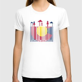Colorful Colorado Barcode Flag T-shirt