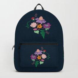 Floral Motif Bouquet Flower Illustration Backpack