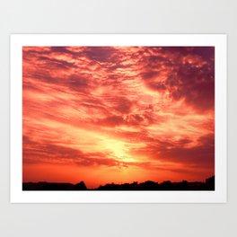 Fiery Sunrise Art Print
