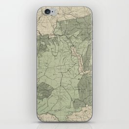 Vintage White Mountains New Hampshire Map (1915) iPhone Skin