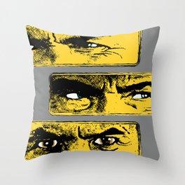 Gun Fight Threesome Throw Pillow