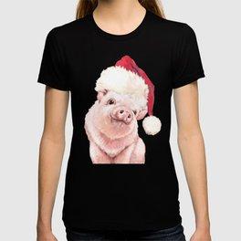 Christmas Pink Pig T-shirt
