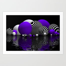 spheres and reflections -202- Art Print