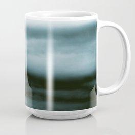 WHITE & BLUE & BLACK TOUCHING #4 #abstract #decor #art #society6 Coffee Mug